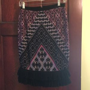 Anthropologie sweater skirt